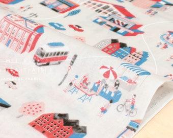Japanese Fabric double gauze Fairground - grey - 50cm
