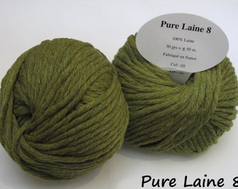 5 skeins of Pure wool soft / Made in France / foam