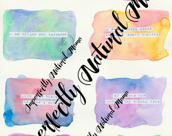 Affirmation Cards download, positive affirmations, watercolour affirmation cards