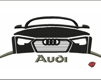 Audi Flash Embroidery Designs in 6 sizes