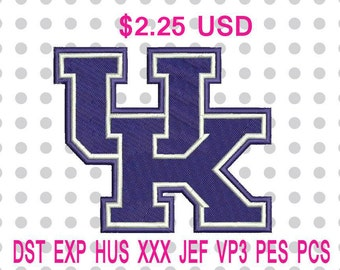 Kentucky Wildcats Logo Embroidery Design 6 Sizes-INSTANT DOWNLOAD