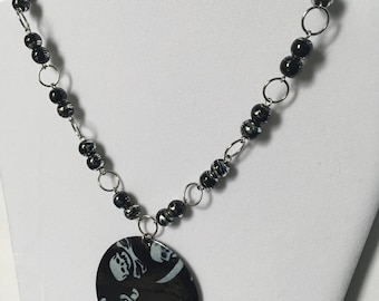 Jolly Roger Pirate handmade necklace