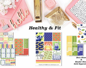 Healthy & Fit, 6 sheet weekly kit//EC//Hp classic, large mini