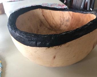 Danny Seo burnt edge wooden bowl