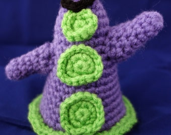 "Day of the Tentacle Inspired ""Purple Tentacle"" Amigurumi"