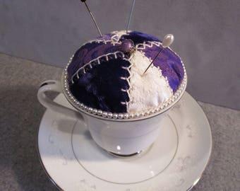 Victorian Teacup Pincushion