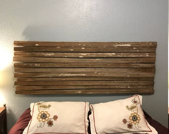 Garden Gate Headboard of Split Old Growth Redwood