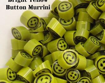 Bright Yellow 4 hole button murrini CoE 104 glass