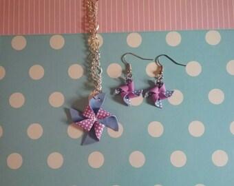 Set pinwheel / origami Set