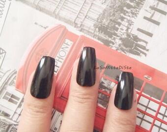 black coffin fake nails ballerina black gothic wedding vampire halloween drag queen pastel goth ballerina false fake nail lasoffittadiste