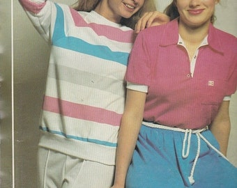 ON SALE 1980's Sewing Pattern - Knitwit 1400 Designer Ladies Knit Tops Size 6 - 22 Factory folded and complete