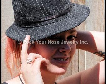 Gold Nose Ring/Solid 14 Karat Yellow Gold Nose Ring/Dainty Nose Ring /Thin Gold Nose Ring/24G/22G/20G/18G/Dainty Nose Hoop/ - CUSTOMIZE