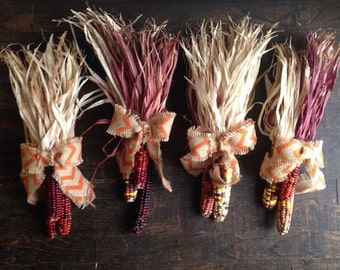 Fall harvest indian corn
