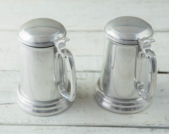 Metal Beer Stein with Glass Bottom-Food Photography Props