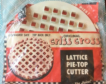 Vintage Lattice Pie Top Cutter, saves the juice! Save some time this holiday season!