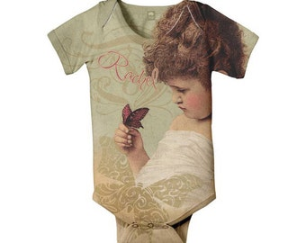 Butterfly Baby Girl Bodysuit, Personalized Shirt, Infant Clothing
