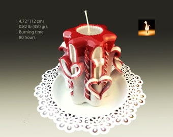 Candle - Handmade candles - gift for her -  Small candle - Valentine Day gift