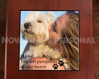 PET MEMORIAL - pet memorial box - Custom Pet Photo Memorial - Pet Memorial Photo Box, Pet Keepsake Box, custom pet photo box , pet keepsake