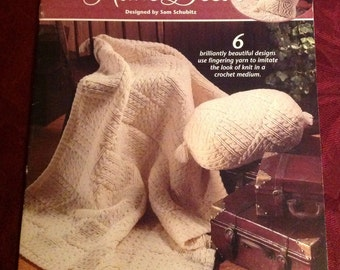 Annie's Attic--I Can't Believe It's Crochet--Home Decor--Pattern Booklet--Floor Mat--Pillow--Table Runner--Pillows--Afghan