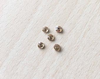Swarovski rhinestone flat back gold 4 mm jonquil
