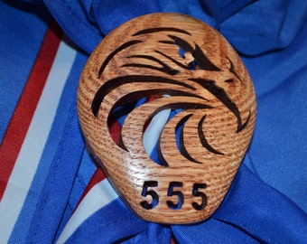 Personalized With Troop Number Eagle Scout Neckerchief Slide For Your Boy Scout