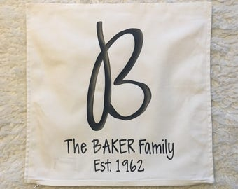 Personalized Pillow Cover 20x20