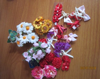 Flowers Craft Sewing Mixed Lot 1 Sewing Scrapbooking Craft projects supplies Embellishments Papercraft Butterfly