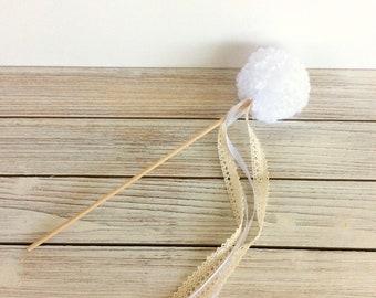 Flower Girl Wand -One Dandelion wand-Rustic Wedding -Woodland Wedding Decoration -Grow Where You Are Planted