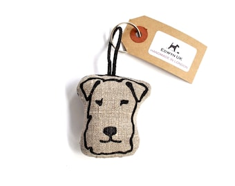 Terrier Head Keyring