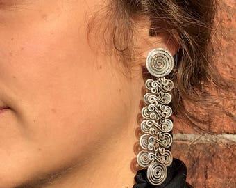 Coil Drop Earrings