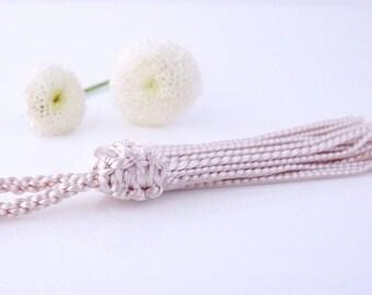 Pink Morocco 9 cm - beige silk tassel (Ref: PAM19)