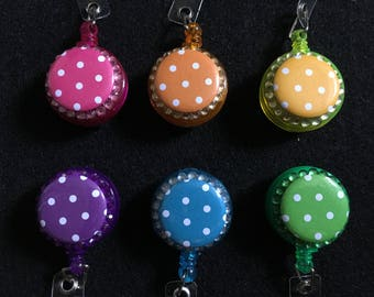 Polka Dot Badge Reel