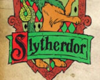 Slytherdor Cross-House Crest Bookmark