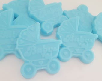 30 baby carriage soap favors - blue baby carriage favors - carriage baby shower favor - baby carriage favor - carriage baby boy shower favor