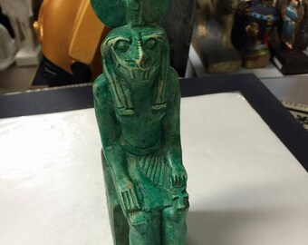 Unique Egyptian God  RA Statue Hand Carved Natural Stone Made in Egypt