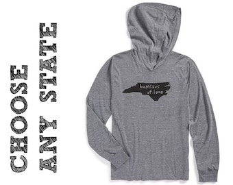 state design, hoodie, long-sleeve t, state pride, choose any state design, local pride, lightweight hoodie, free shipping