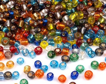 600 glass beads, 4mm, MIX (50 grams)  (146)