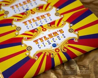 Cirque barre de chocolat anniversaire imprimable Wrappers - couleurs primaires - bricolage imprimer - fête d'anniversaire Carnaval