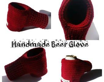 Glove for Drinks - Beer Hugger - Crocheted Beer Glove - Beer Mitten  - Coffee Gloves - Soda Glove - Drinking Gloves - Mittens for Beer