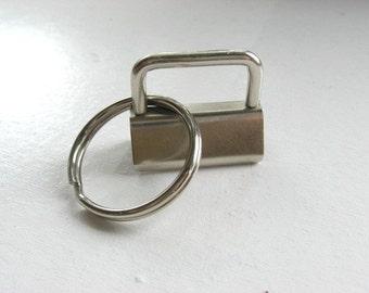 Key Fob Hardware ONE INCH Sets For Wristlets 100 2Pc Sets