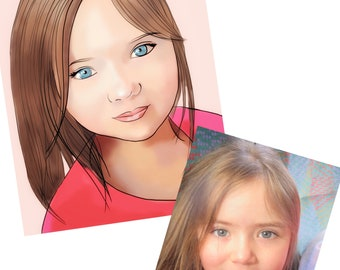 "Portraits - Digital Art - Funky ""Disney-esque"" portraits - A4 - prefect gifts"