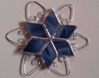 Small Stained Glass Snowflake