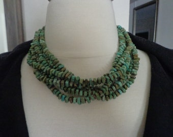 RETIRED SILPADA Multi Strand Dyed Howlite and Bronze Glass Beaded Necklace, N1535
