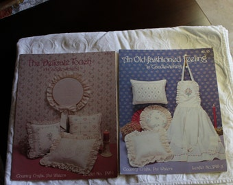 Vintage Lot of 2 Candlewicking patterns including An Old-fashioned Feeling and The Delicate Touch