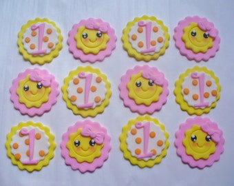 You are My SUNSHINE Edible Fondant Personalized Cupcake Toppers