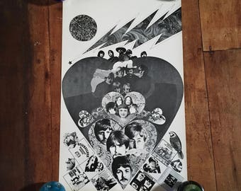 The Beatles 1968 Capitol Records Original Vintage Music Poster