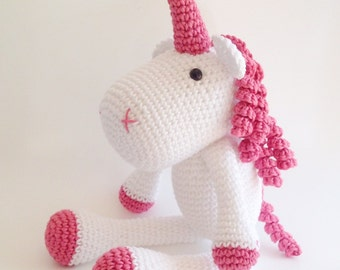 Unicorn Plush, Unicorn Stuffed Animal, Unicorn Plushie, Unicorn Stuffed Toy, Crochet Unicorn