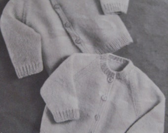 Vintage Knitting Baby Patterns Cardigan Sweaters PDF Pattern MM7