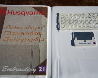 Husqvarna Viking Embroidery 21 Card and Booklet