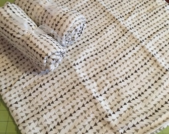 Gray and White Double Gauze Baby Receiving Blanket